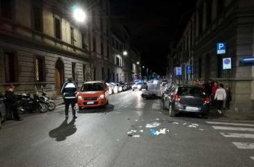 Incidente stradale a Firenze tra le Via Vittorio eEmanuele la Via Paoletti