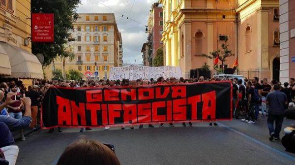 Genova, manifestazione violenta contro casa Pound