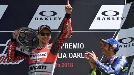 MotoGP Mugello: vince Lorenzo, 2° Dovizioso e 3° Rossi