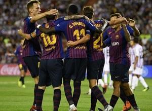 Liga: Barcellona fortunato vince 1-0 contro il Valladolid